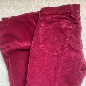 Lucky Brand red corduroy pants size 6